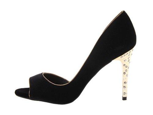 Jessica Simpson Donna Zafferano Velluto Nero Dorsay 8,5 M