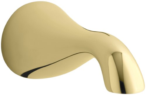 KOHLER K-16135-PB Revival Non-Diverter Bath Spout, Vibrant Polished Brass