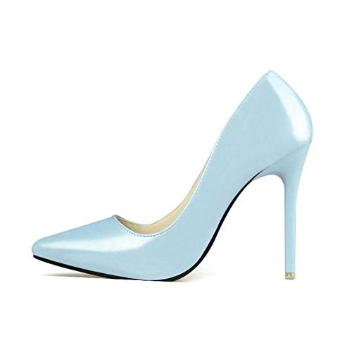 Comfort Cibernetico Scarpe A Punta Tacco A Spillo Per Le Donne Scarpe Da Sera Per Le Feste Di Moda Blu