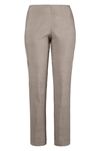 - Ulla Popken Women's Plus Size Bengaline Stretch Pants Matte Beige 20P 640915 16