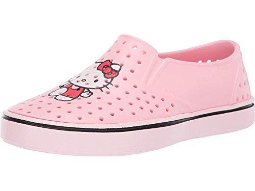 Native Kids Shoes Girl's Miles Print (Little Kid) Lantern Pink/Blossom Pink/Hello Kitty 1 M US Little Kid -