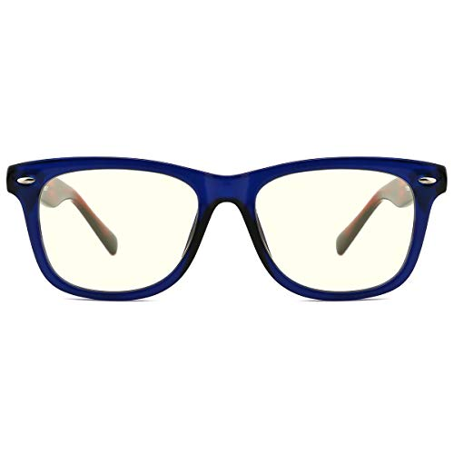 TIJN Kids Blue Light Blocking Glasses TR90 Frame Anti-strain Eyeglasses for Boys ()