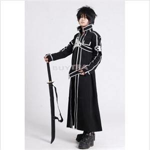 2014 New SH Unisex Cosplay Costume Anime Sword Art Online Kirito Kazuto Kirigaya Cosplay Clothes HS