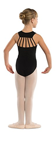 DanzNmotion by Danshuz Girl's Straps Leotard 8-10 BLACK -
