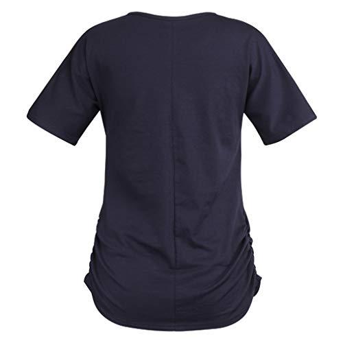 Yvelands Blusa básica Rebajas Mujeres Verano Camisa Casual ...
