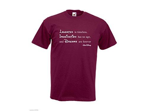 Regalo 'for Ever' Relativo decalcomania della N'a Âge uomo Disney imagination di Pas gratuito con citazione di Les da shirt Bordeaux Sont all'ispirazione T Walt Modello Rêves Pqzw4S4