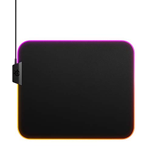 SteelSeries QcK Gaming Surface - Medium RGB Prism Cloth - Best Selling Mouse Pad of All Time - Optimized For Gaming Sensors