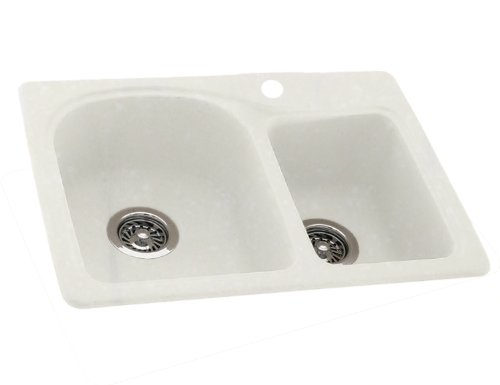 Swanstone KSDB-2518-037 25-Inch by 18-Inch Super Saver Double Bowl ...