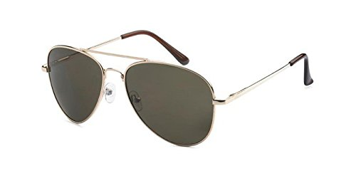 Epic Brand Aviator Sunglasses - 100% UV400 Non-Polarized 58mm lenses (Gold, Green Classic - Sunglasses Top Brands