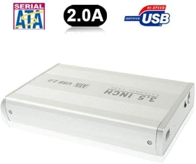3.5 inch HDD SATA External Case Color : Silver Support USB 2.0 Durable