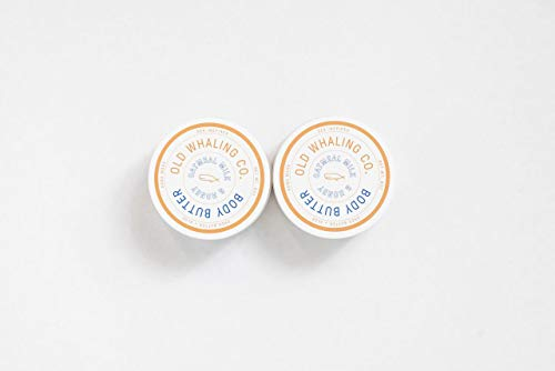 TWO Oatmeal Milk + Honey Body Butter || handmade lotion/shea butter/aloe vera/paraben + mineral oil free/moisturizing / best seller by Old Whaling Co.