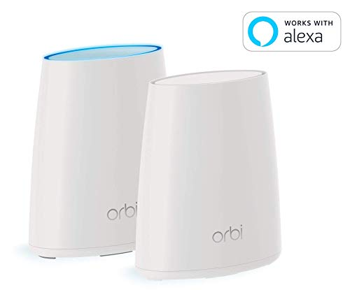 NETGEAR (RBK30-100NAS) Orbi Whole Home Mesh WiFi System - Simple setup, Wireless router replacement, no WiFi dead zones, Works w