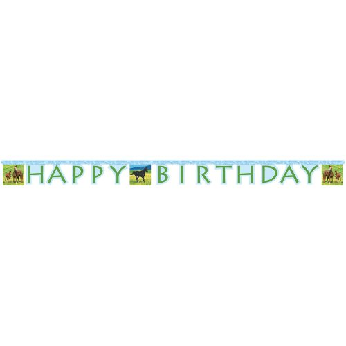 [Creative Converting Wild Horses Happy Birthday Jointed Party Banner] (Quick And Creative Halloween Costumes)