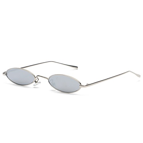 Round Metal Frame Sunglasses Women Reflective Silver Mirror Vintage Oval Eyeglasses - Eyeglass For Shaped Best Shape Heart Face