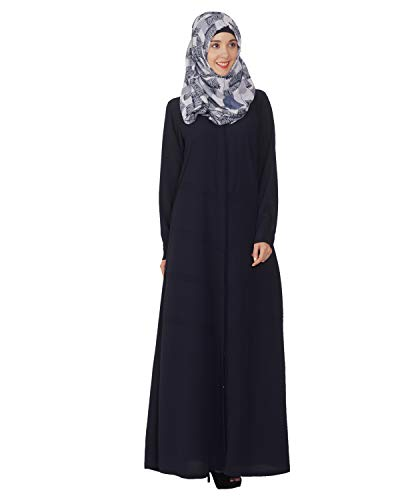 Modest Forever Blue Pintuck Abaya Burkha for Women