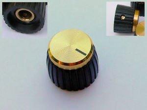 Jellyfish Audio, manopole oro per amplificatori Marshall, set da 2 pezzi a vite per controlli con asta rotonda JellyfishAudio-150