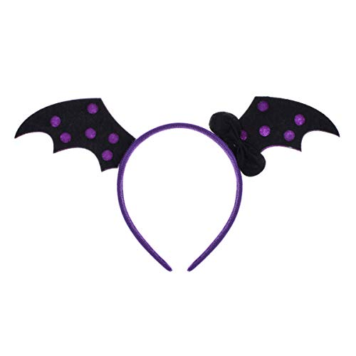 Love Sweety Halloween Spider Ghost Pumpkin Hair Hoop Cosplay Devil Headband (Bat -