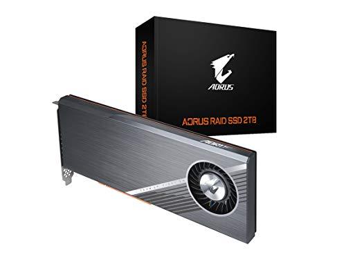 Gigabyte AORUS RGB Nvme Add-in-Card 2TB High Performance Gaming, Advanced Thermal Solution, 3D TLC NAND, DDR Cache Buffer, 5 Year Warranty SSD GP-ASACNE2200TTTDA