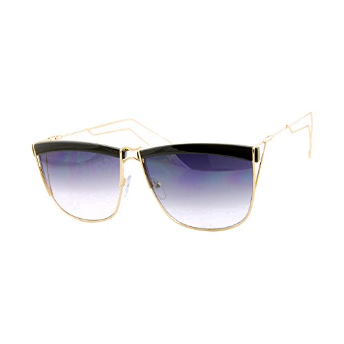 ROXX- Elegant Black and Gold with Purple Lens Metal Wire Frames For An Elevated Fashion Forward - Sumglasses