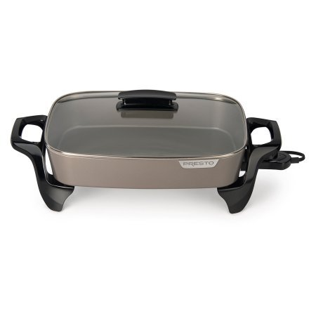 Presto 16-inch Ceramic Electric Skillet with glass cover