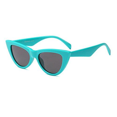 Escoger Mujer Ojo Marco de primavera 9 de Moda Verde sol C9 para Retro Hzjundasi Gafas Bisagra UV400 de Lente Estilo Gris Gafas gato Color Rock Enorme 8Bwxp