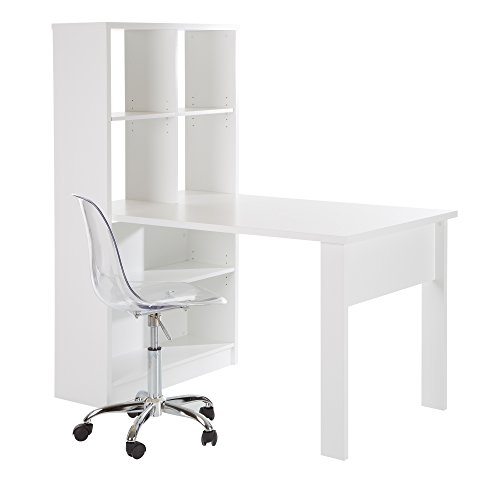 desk units for home office white - 6
