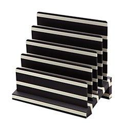 See Jane Work(R) Desktop File Sorter, 5 3/4in.H x 9in.W x 8 3/4in.D, Black and Cream Stripe