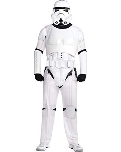 Costumes USA Star Wars Stormtrooper Costume for Adults, Standard Size, Includes a Jumpsuit, a Mask, a Belt, and More]()