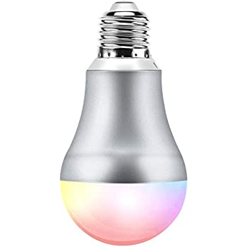smart color light bulb e27 60w equivalent a19 dimmable warm white home lighting wifi led bulbs. Black Bedroom Furniture Sets. Home Design Ideas