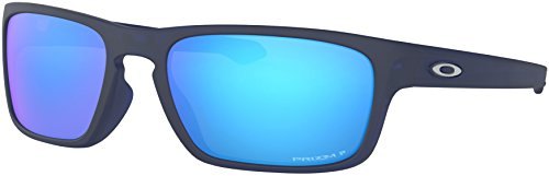 - Oakley - Sliver Stealth Asian Fit - Matte Translucent Blue Frame-Prizm Sapphire Polarized Lenses