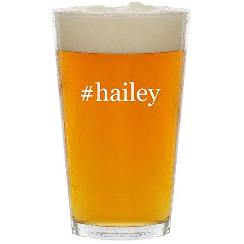 #hailey - Glass Hashtag 16oz Beer Pint