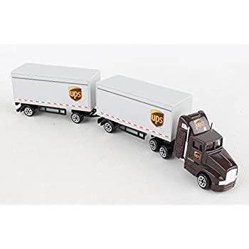 Amazon Com Ups Delivery Die Cast Truck 1 55 Scale Toys