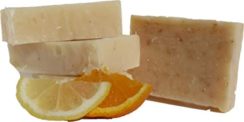 Scenter of the Mind Luxurious All Natural Handmade Soap, Energizing Citrus Lovers - 4-Pack