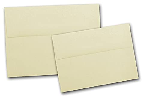 Neenah Classic Crest A7 Envelopes for 5x7 card stock - 50 Pk (Baronial Ivory) - Classic Crest Envelope Natural