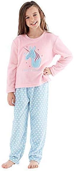 Selena Girl Girls Full Fleece Winter Pajama Set