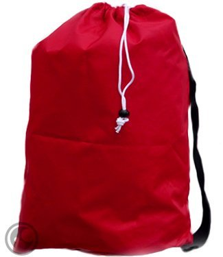 UPC 640522581610, Large Laundry Bag with Drawstring and Strap, Color: Red, Size: *30x40, Choose from 16 Colors
