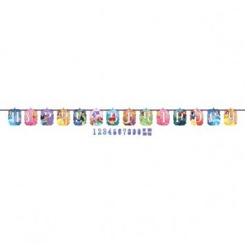 (Ribbon Letter Banner | Disney Princess Dream Big Collection | Birthday)