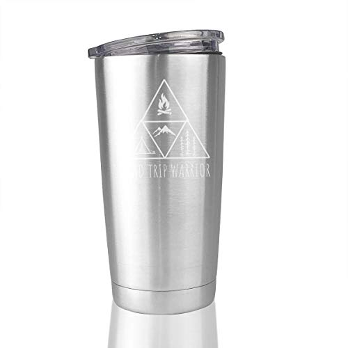 20oz Stainless Steel Tumbler Road Trip Warrior Vacuum Insulated Travel Mug Novelty Gifts