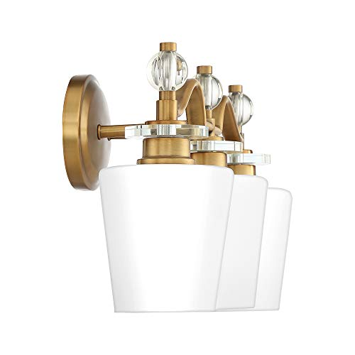 Quoizel HS8603C Hollister Vanity Bath Lighting, 3-Light, 300 Watts, Polished Chrome (10'' H x 23'' W) by Quoizel (Image #3)