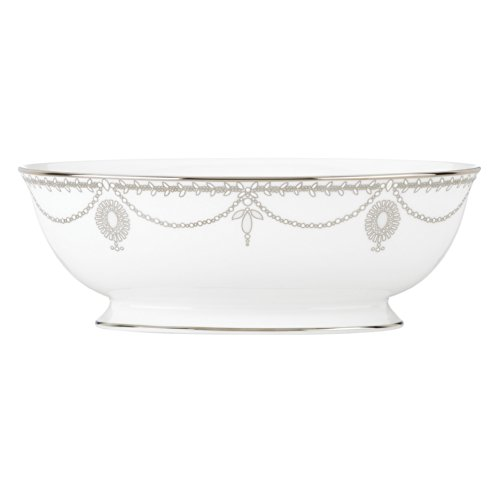 Lenox Marchesa Empire Serving Bowl, (Pearl Platinum Open Vegetable Bowl)