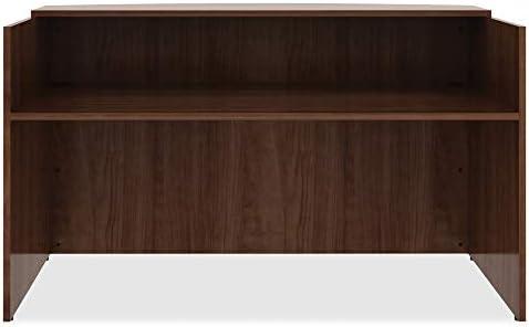 Lorell Essentials Reception Desk, Walnut,Laminate