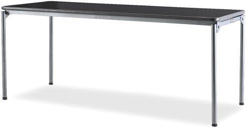 SAMSONITE Samson Premium Commercial Table, Rectangular, 72w x 30d, Dark Wood Grain