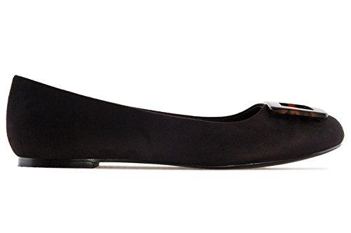 Andres Machado Damen Ballerina IM Carey Stil - Schwarz Schuhe in Übergrößen