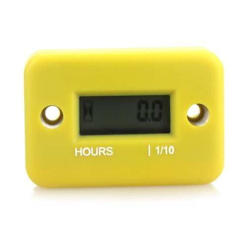 Docooler® Inductive Hour Meter for Marine ATV Motorcycle Dirt Ski Waterproof (Yellow)