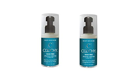 - Coochy Rash Free Not so Innocent Fragrance Free Shave Creme Water Based Shave Cream and Moisturizer - Size 1 Oz (Pack of 2)