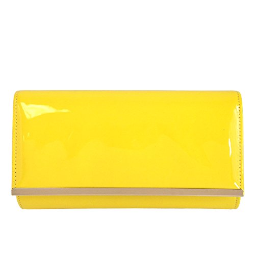 JNB Faux Patent Leather Glossy Candy Clutch by JNB