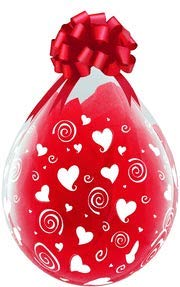Qualatex 59008 18 in. Swirling Hearts-A-Round Latex Balloon Case - Pack of 5 (Hearts Balloon Swirling Latex)