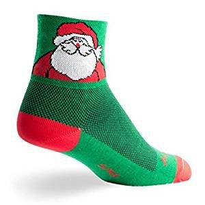 (SockGuy Classic 3in Santa Clause Cycling/Running Socks (Santa Clause - L/XL))