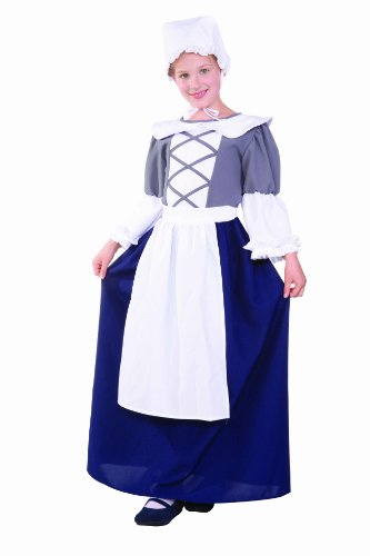 RG Costumes Colonial Peasant Girl, Child Large/Size 12-14 - Colonial Girl Childrens Costumes