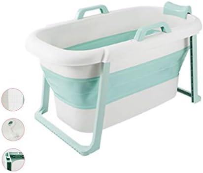 浴槽大人全身浴槽折りたたみ子供浴槽全身浴槽厚手保温全身浴槽収納しやすい 浴室用設備 (Color : Green, Size : 117*65*60cm)